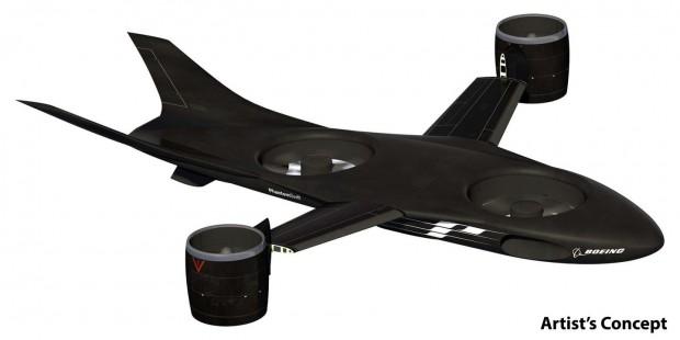 Das VTOL X-Plane soll schneller und effizienter sein als ein Hubschrauber. (Bild: Boeing/Darpa)