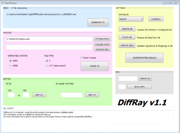 Die Benutzeroberfläche von Diffray (Bild: Marion Marschalek und Joseph Moti)