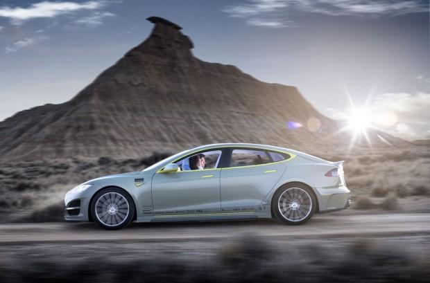 Der Rinspeed Xchange basiert auf dem Model S von Tesla Motors. (Bild: Rinspeed)
