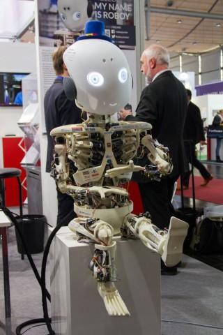 Der Roboter Roboy auf der Cebit 2014. (Foto: Werner Pluta/Golem.de)
