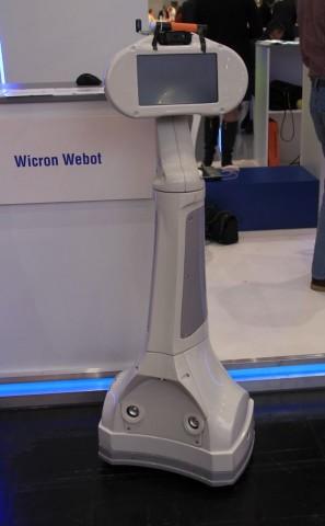 Telepräsenzroboter Webot auf der Cebit 2014 (Foto: Werner Pluta/Golem.de)
