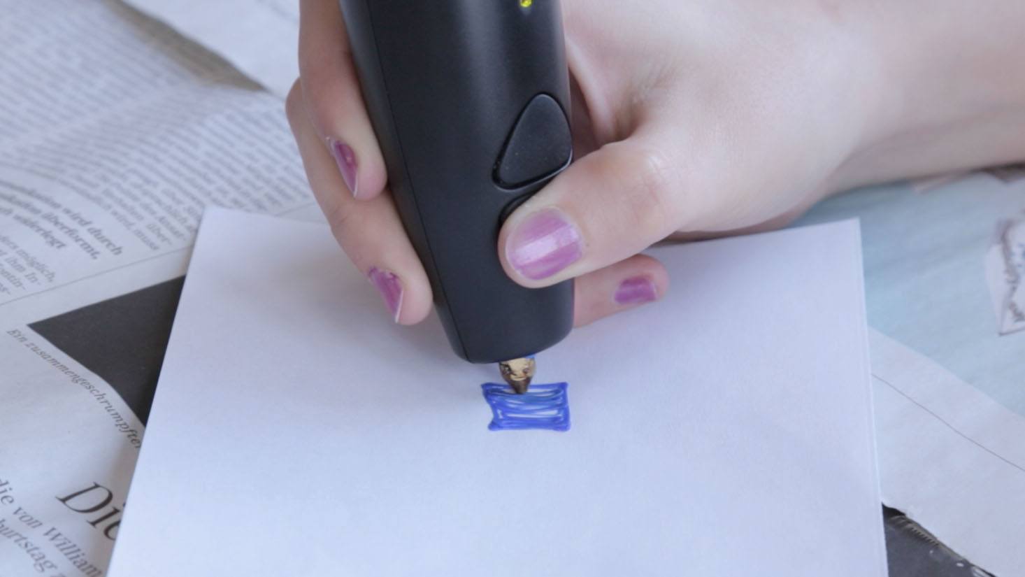 3Doodler im Test: Mit Geduld und Drucker - Malen mit dem 3Doodler.