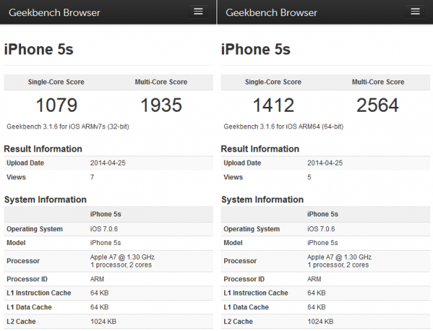 Der Geekbench unterstützt 32 und 64 Bit. (Screenshot: Marc Sauter/Golem.de)