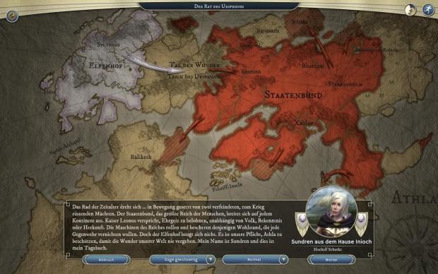 Die Handlung wird vor allem in Textform und per Sprachausgabe erzählt. (Screenshot: Golem.de)