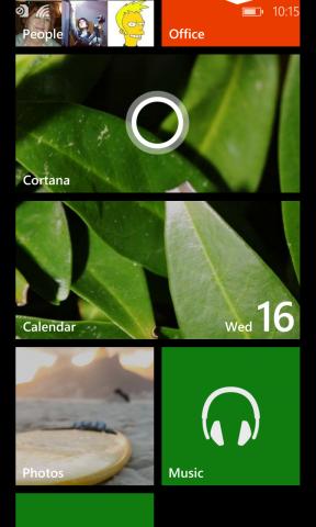 Windows Phones Sprachassistentin Cortana ist per Live Tile oder Suchtaste erreichbar. (Screenshot: Tobias Költzsch/Golem.de)