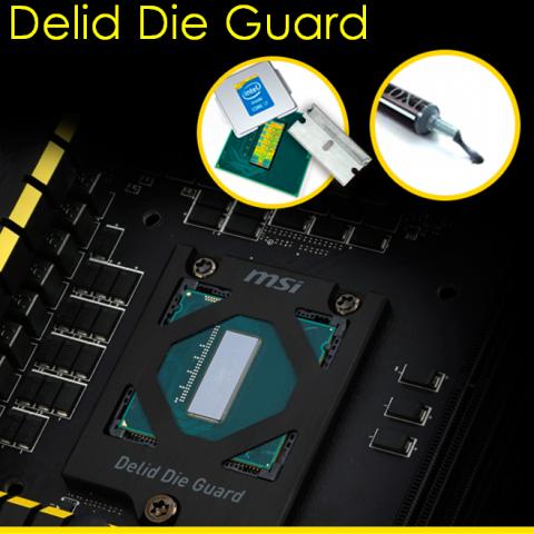 Der Delid Die Guard schützt geköpfte CPUs. (Bild: MSI)