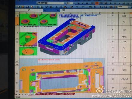 Angebliche Pläne für das iPhone 6 (Bild: Weibo)