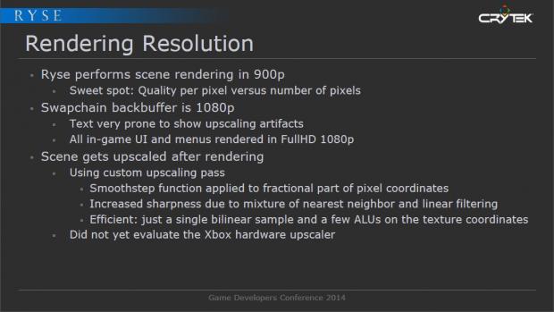 Ryse nutzt einen von Crytek programmierte Skalierung und nicht die DCE (Bild: Crytek)