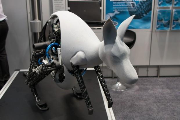 Das Bionic Kangaroo auf der Hannover Messe 2014 (Foto: Werner Pluta/Golem.de)