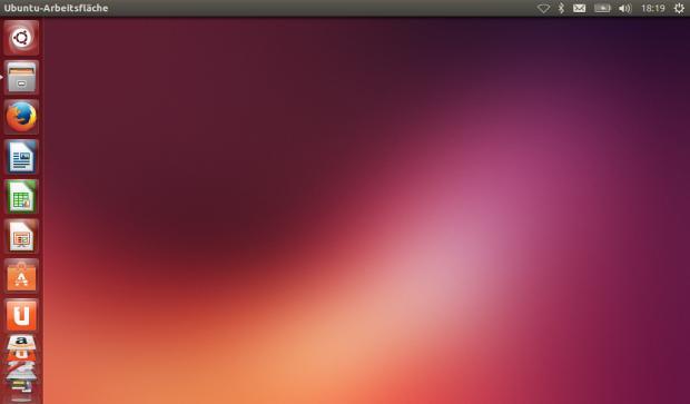 Ubuntus Unity-Desktop auf einem Netbook (Screenshot: Jörg Thoma/Golem.de)
