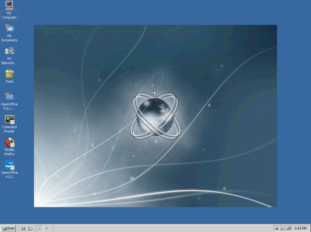 Der Desktop von ReactOS (Screenshot: Golem.de)