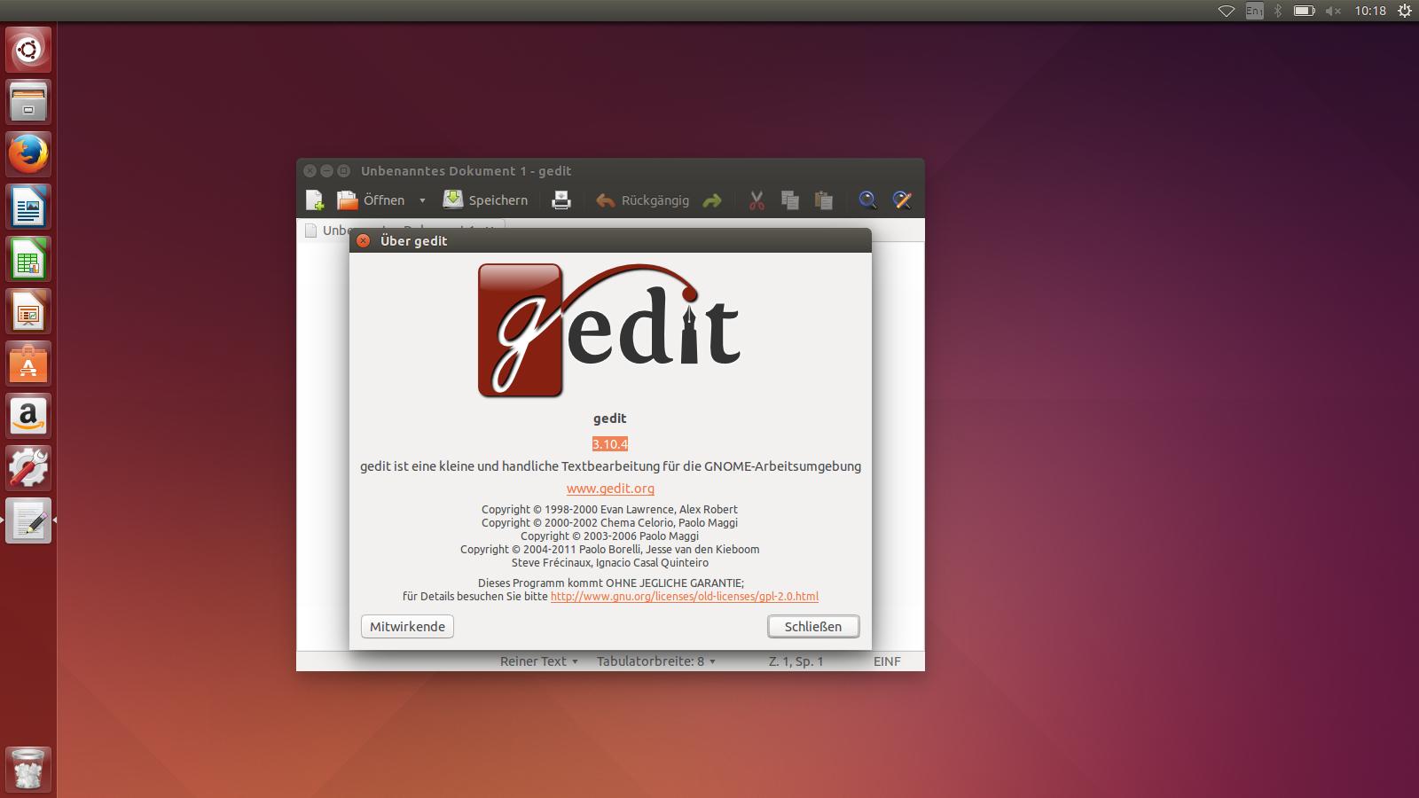 Ubuntu 14.04 LTS im Test: Canonical in der Konvergenz-Falle - Unity nutzt als Basis Gnome 3.10 ... (Screenshot: Golem.de)