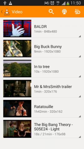 Das neue UI von VLC für Android (Bild: Jean-Baptiste Kempf)