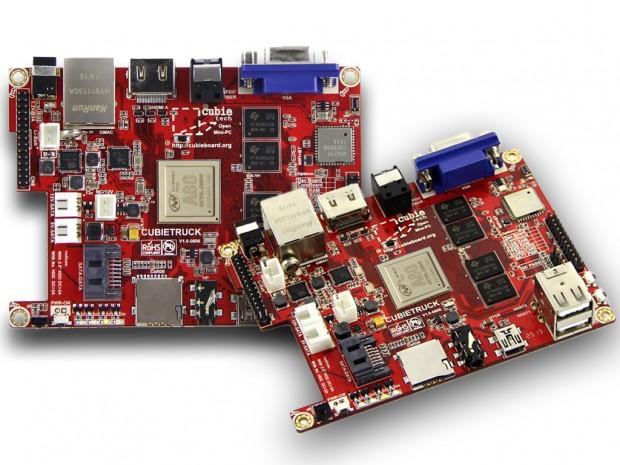 Fotomontage für das Cubieboard 8 basierend auf dem Cubietruck (Bild: cubieboard.org)