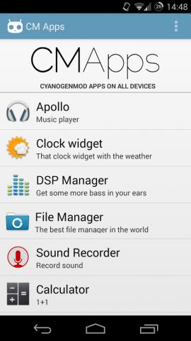 CMApps für Android (Bild: Maarten Dekkers)