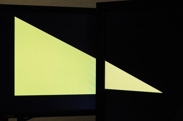Bei verschiedenen Pixeldichten klappt die Rahmenverbergung nur bedingt. (Foto: Nico Ernst/Golem.de)