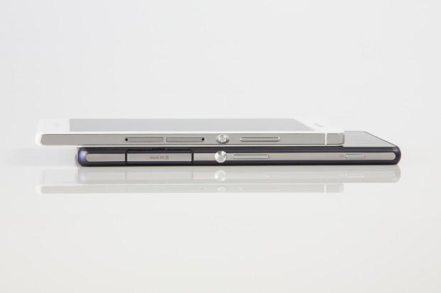 Das Design ähnelt zum einen dem  der aktuellen Xperia-Modelle ...