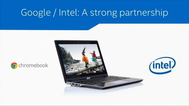 Chromebook-Zusammenarbeit von Intel und Google (Bild: Intel)