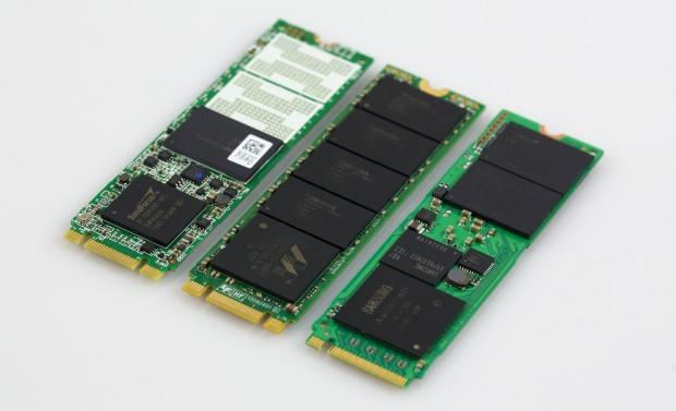 Intel 530 Series, Plextor M6E und Samsung XP941 (Bild: Michael Wieczorek/Golem.de)