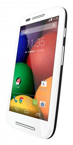 Motorola moto e neues einsteiger smartphone mit android 4 4 2 für