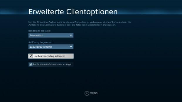 Die erweiterten Client-Optionen (Screenshot: Marc Sauter/Golem.de)