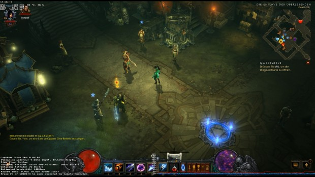 Diablo 3 per In-Home Streaming (Screenshot: Marc Sauter/Golem.de)