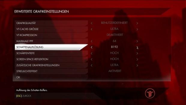 Das Grafikmenü bietet keinen MSAA-Schalter. (Screenshot: Marc Sauter/Golem.de)