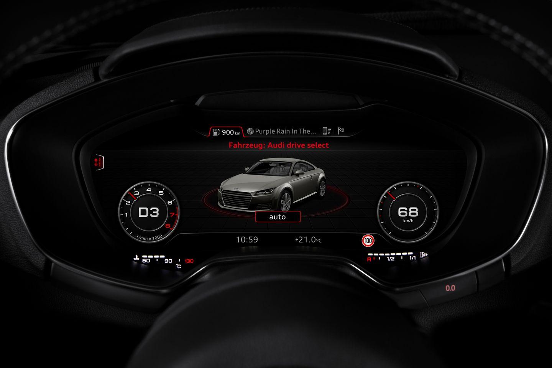 Virtual Cockpit: Mit 60 Bildern pro Sekunde in den roten Drehzahlbereich - ... oder die Fahrassistenzsysteme. (Bild: Audi)