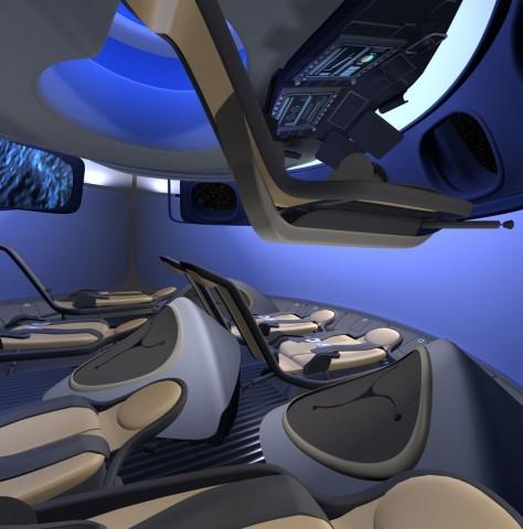 Spacig: So soll die Einrichtung der Raumkapsel CST-100 aussehen. (Bild: Boeing)