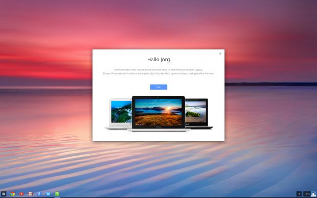 Schön, vom Betriebssystem gleich erkannt zu werden. Das sind die Vorteile eines Google-Kontos unter ChromeOS (Screenshots: Golem.de)