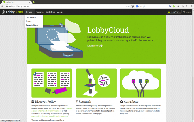 In Lobbycloud sollen... (Screenshots: Golem.de)