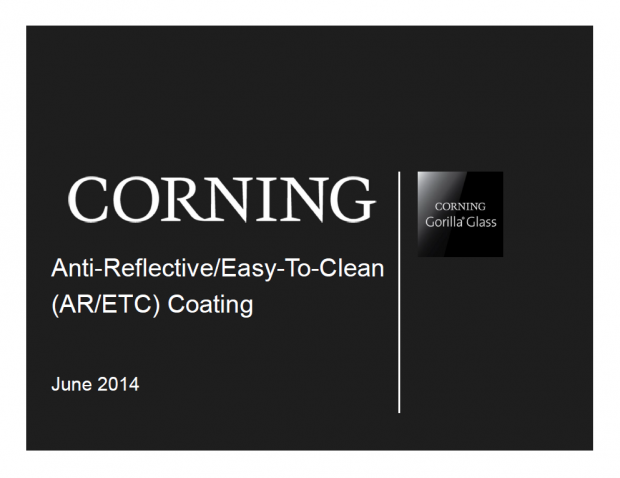 AR-Coating (Bild: Corning)