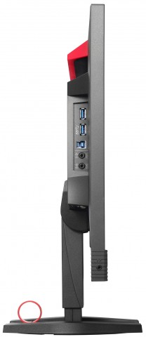 Ein- und Ausgänge für USB 3.0 sitzen an den linken Seite. (Bild: Eizo)
