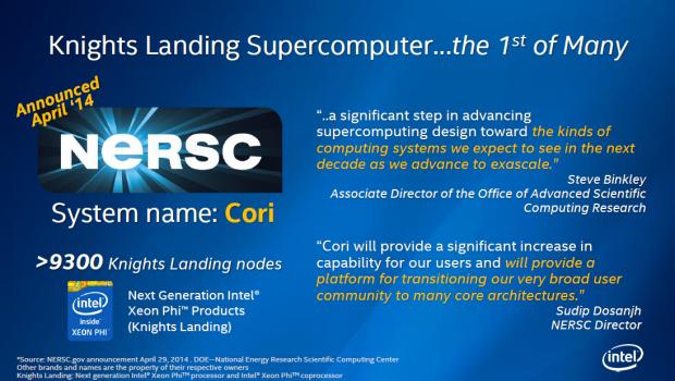 Der Nersc Cori soll der erste Supercomputer mit Knights Landing werden. (Bild: Intel)