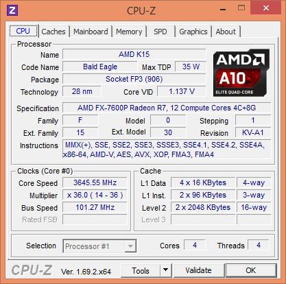 Kaveri Mobile wird von GPU-Z als Bald Eagle erkannt, also die Embedded-Version (Screenshot: Marc Sauter/Golem.de)