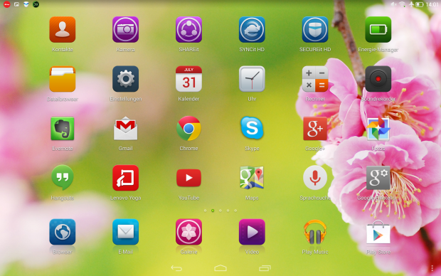 Lenovos Launcher ohne App-Übersicht (Screenshot: Golem.de)