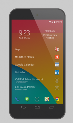 Z Launcher (Bild: Nokia/Screenshot: Golem.de)