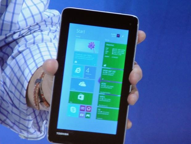Das 7-Zoll-Tablet von Toshiba. (Fotos: Nico Ernst)