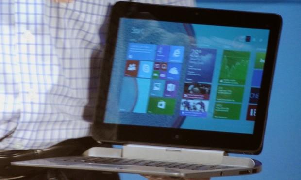Das HP Pro X2 mit Dock für professionelle Anwender. (Fotos: Nico Ernst)