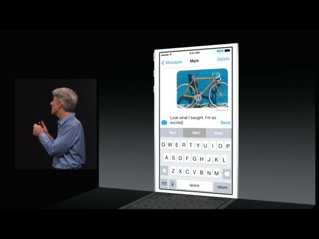 Das neue iOS 8 (Screenshot: Golem.de)