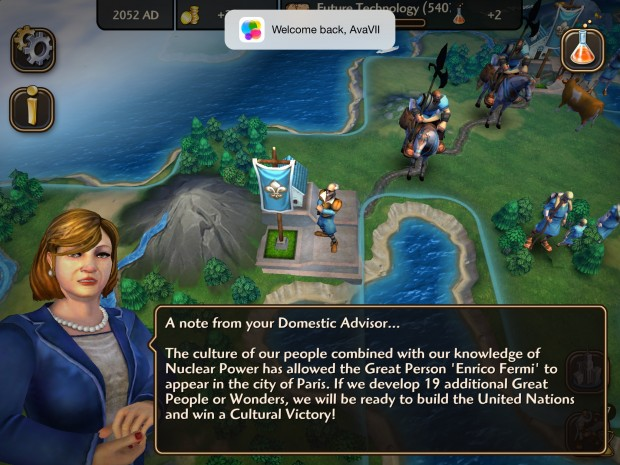 Civ Rev 2 bietet Game Center Support und Cloud Saves.