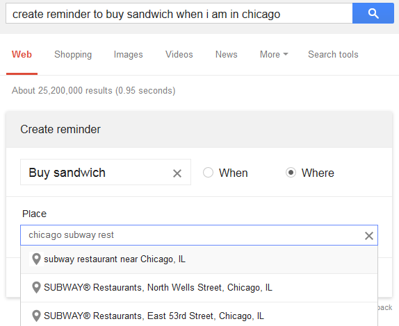 Google Now Reminders (Bild: Google Blog)