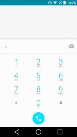 Telefon-App von Android L mit Material Design auf einem Nexus 5 (Screenshot: Golem.de)