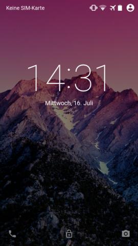 Neuer Sperrbildschirm von Android L auf einem Nexus 5 (Screenshot: Golem.de)