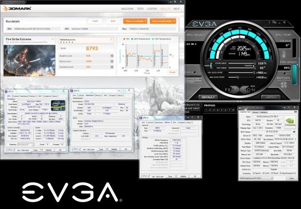 Der Weltrekord mit der EVGA Geforce GTX 780 Ti Kingpin Edition (Bild: Vince Lucido)