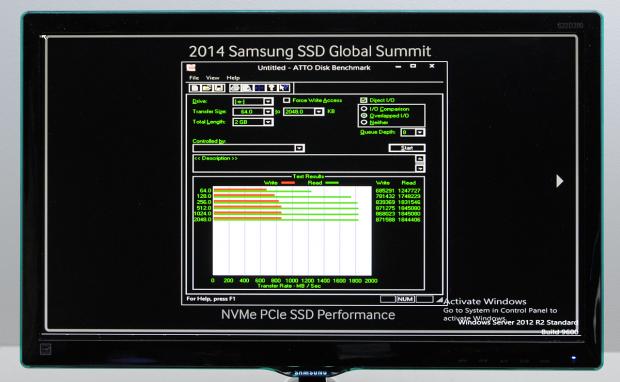 Die NVMe-SSD liest mit 1,8 GByte/s. (Bild: Nico Ernst)