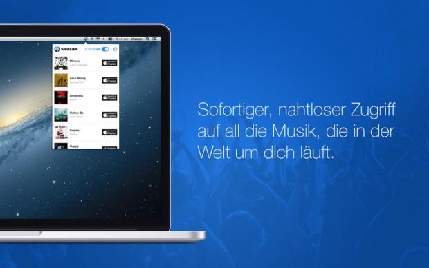 Shazam für OS X (Bild: Apple)