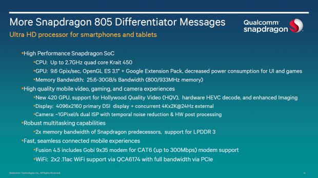 Snapdragon 805 Überblick (Bild: Qualcomm)