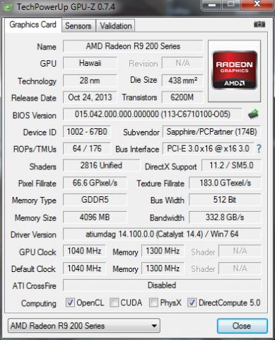 Diese 290X ist mit 1.040 MHz angegeben, ... (Screenshot: Golem.de)