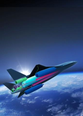 Das Überschallflugzeug Zehst soll nicht nur schnell, sondern auch umweltfreundlich fliegen (Bild: Airbus)